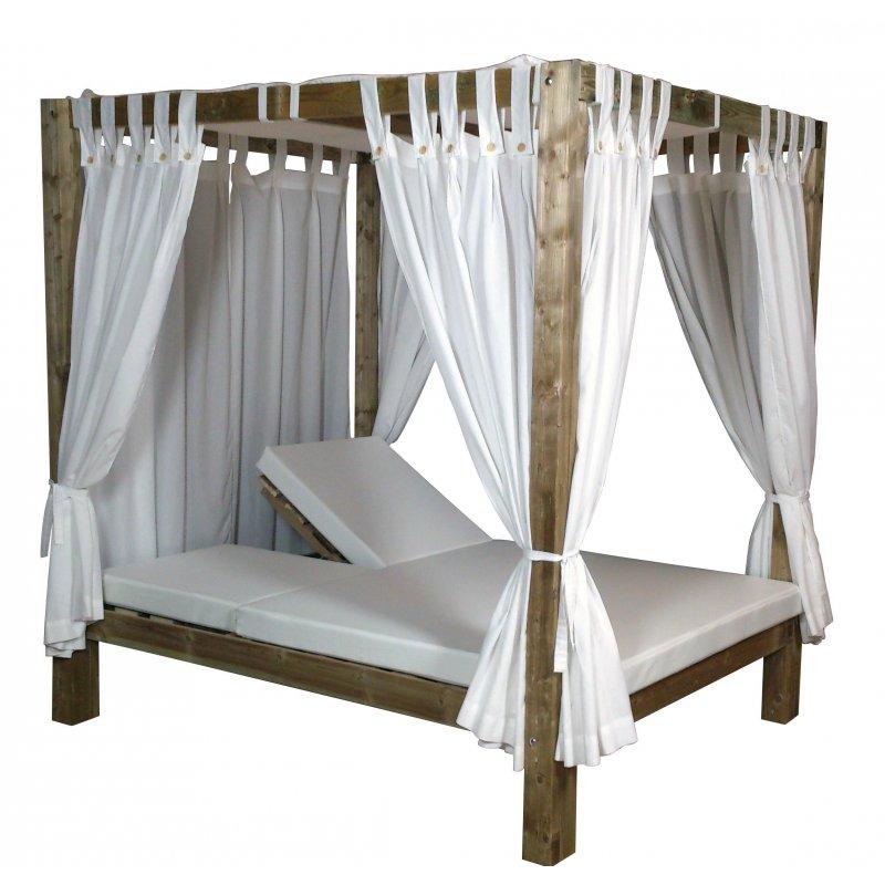 Cama Balinesa Madera Reclinable Muebles Chill Out Conva CBR150NC