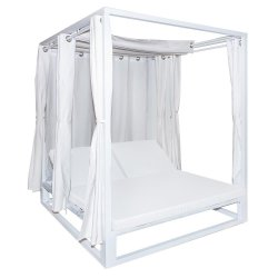 Cama Balinesa Reclinable Aluminio Blanco Muebles Chill Out  LDK127456