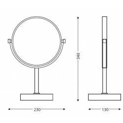 Espejo de aumento sobremesa Cromado Fiesta Espejos de Aumento JVD JV8661514