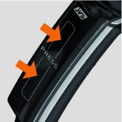 Secador de Pelo Alteo Negro Mate Secadores con Cable JVD JV8221140
