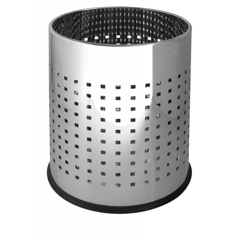 Papelera perforada inox brillo 10 L Papeleras de Interior JVD JV899545