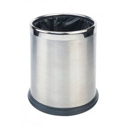 Papelera Inox Satinada 10 L