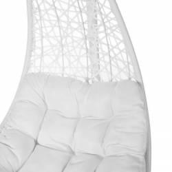 Silla colgante blanco con soporte Muebles Chill Out  LK82979
