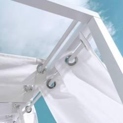 Cama Balinesa Reclinable Aluminio Blanco Muebles Chill Out  LK127456
