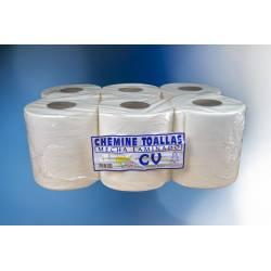 Papel Toalla Celulosa Blanco 6 Rollos Papel Secamanos en Rollo   CEL800