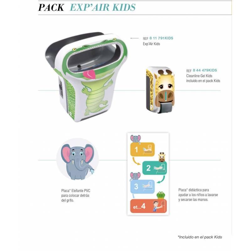 Pack Secamanos eléctrico infantil ExpAir Secamanos eléctricos JVD PACK811791KIDS