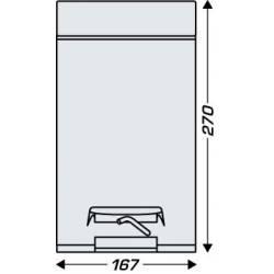 Papelera de baño Negro Mate 3 L con pedal Papeleras Baño JVD JV8991785