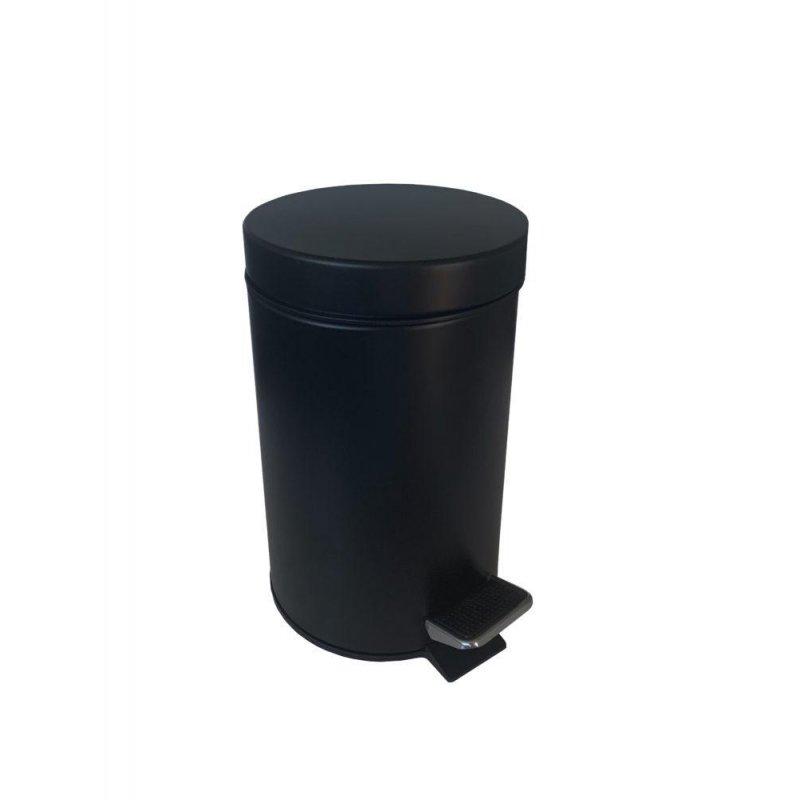 Papelera de baño Negro Mate 5 L con pedal Papeleras Baño JVD JV8991786
