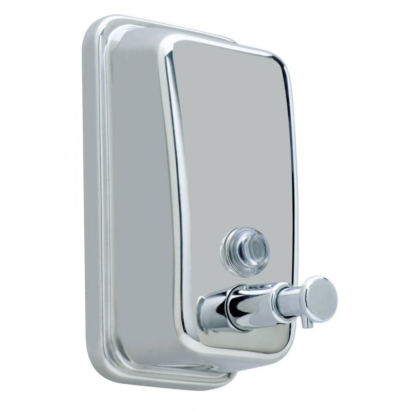 Dosificador jabón acero inox brillo 450 ml. JVD Dosificadores Jabón Gel JVD JV844253