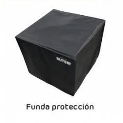 Mesa con fuego Cosiloft 100 Cristal Negro Teca Fuegos de Jardín BUTSIR COSI0010CR