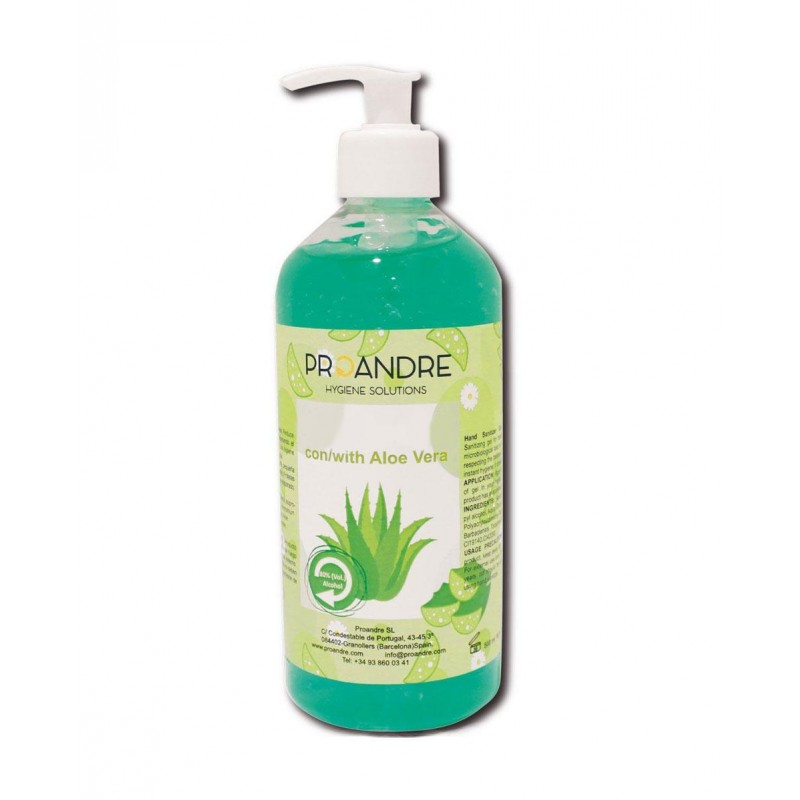 Pack 12U. Gel hidroalcohólico Aloe Vera 500ml Gel Hidroalcohólico ProAndre PROAV-512