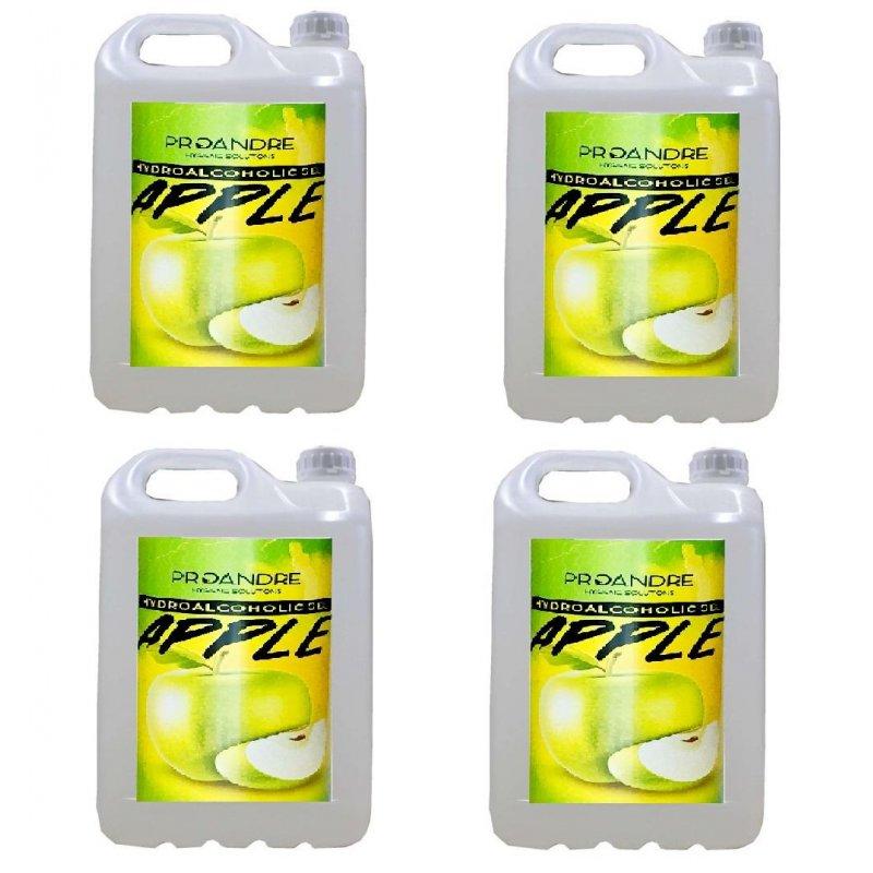 Gel hidroalcohólico Manzana 4x5 L Gel Hidroalcoholico ProAndre PROMZ-5L4U