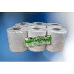 Papel Toalla Reciclado Gofrado 6 Rollos Papel Secamanos en Rollo   CRG800