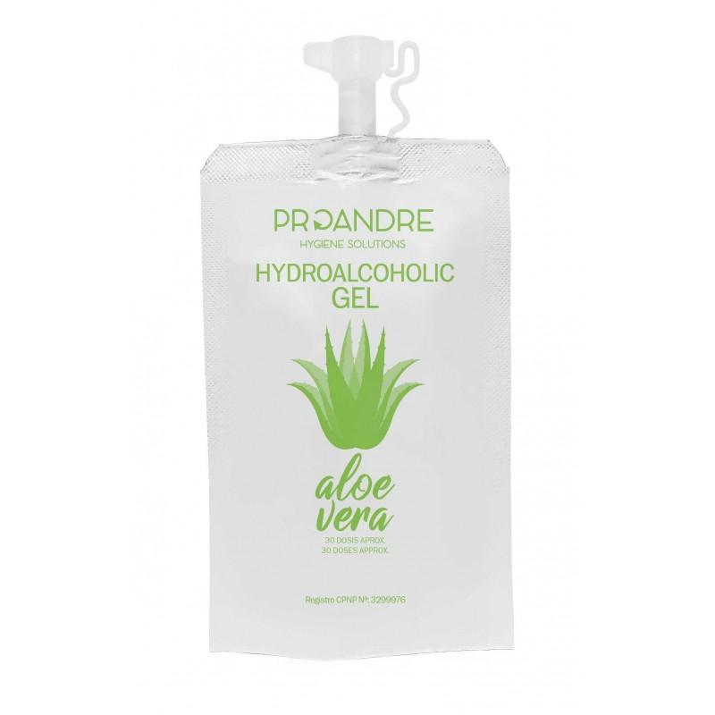 25 Mini Dosis 35 ml Gel hidroalcohólico Aloe Vera Gel Hidroalcoholico ProAndre PRO-DOYPACK25AV