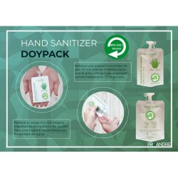 50 Mini Dosis 35 ml Gel hidroalcohólico Manzana Gel Hidroalcoholico ProAndre PRO-DOYPACK50MZ