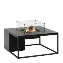 Mesa con fuego Loft 100 Cristal Negro Fuegos de Jardín BUTSIR COSI0011CR