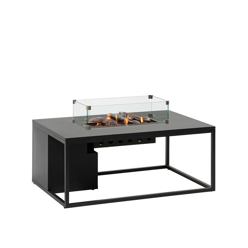 Mesa con fuego Loft 120 Cristal Negro Fuegos de Jardín BUTSIR COSI0015CR