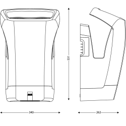 Secamanos eléctrico StellAir Negro Mate Secadores de Manos JVD JV811761