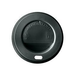 Tapa vaso papel 240cc negra Vasos Desechables  TVP240