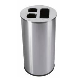 Papelera de reciclaje 60L Acero Inox JVD Papeleras reciclaje JVD JV8991081