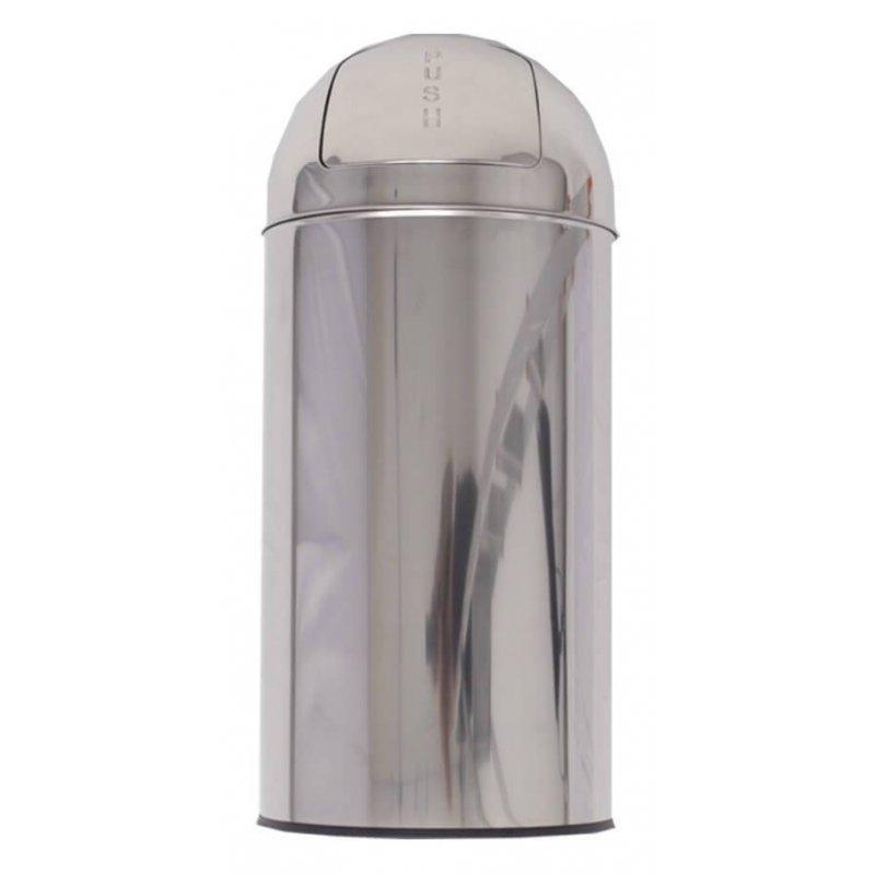 Papelera push redonda inox brillo 35L Papeleras Interior y Oficina JAMI JMPI100AIB1