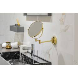 Espejo de aumento Dorado con Doble cara Espejos de Aumento JVD JV8661511
