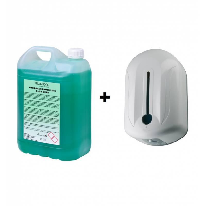 Pack Dispensador automático + Hidrogel Aloe Vera Dispensadores Gel Hidroalcohólico  PACKDSAV