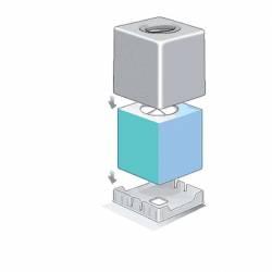 Dispensador Pañuelos cuadrado blanco Dispensadores de pañuelos JVD JV8991307