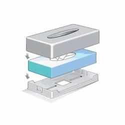 Dispensador Pañuelos rectangular blanco Dispensadores de pañuelos JVD JV8991306