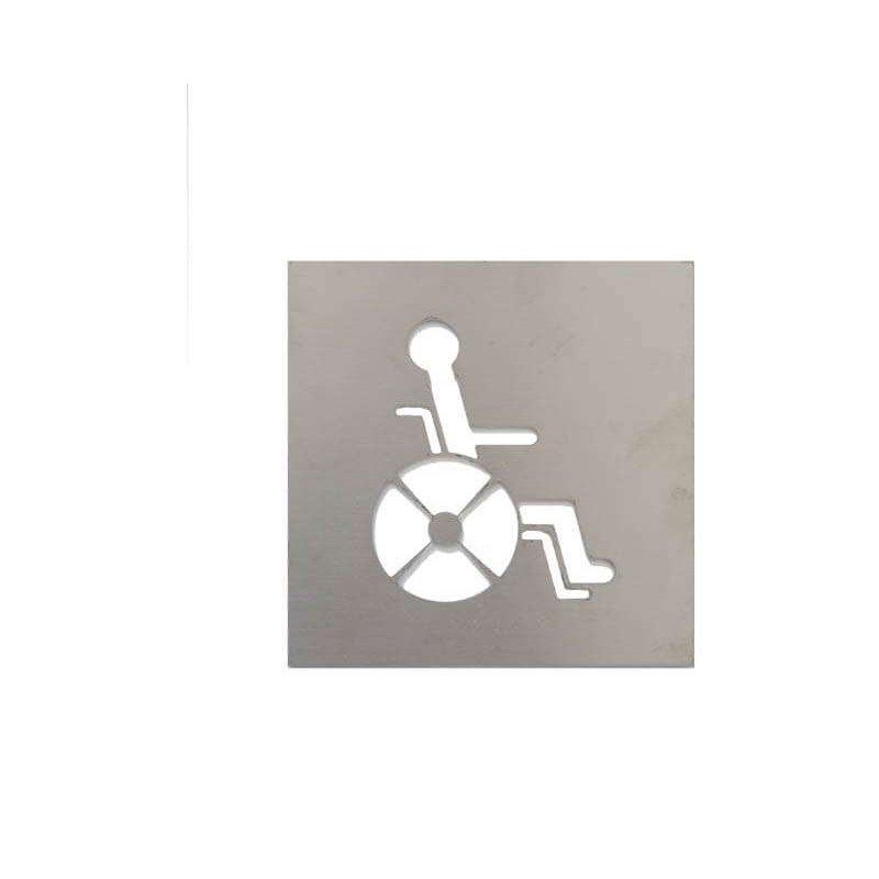 Pictograma aseo discapacitados satinado Jami Pictogramas JAMI JMAB088AIS1