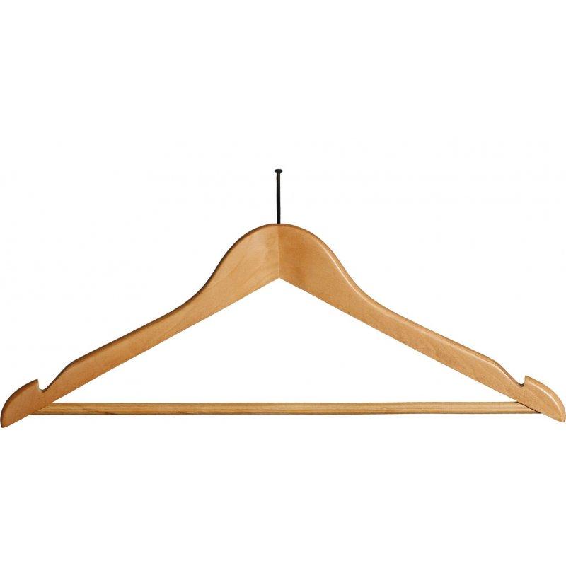 Percha de madera sin anilla 45cm 100 unds. Perchas  PC903068-GS