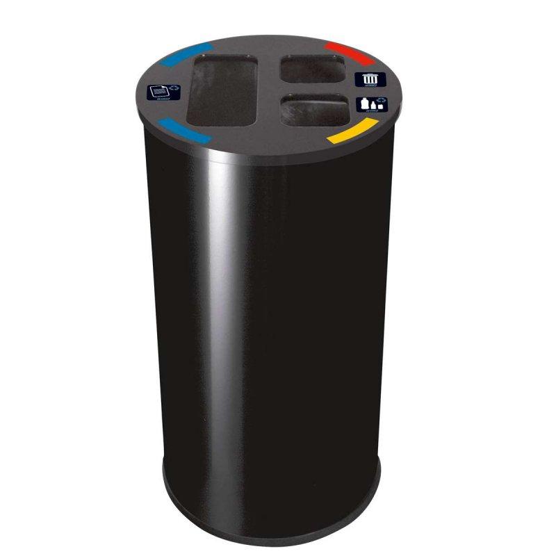 Papelera de reciclaje 60L Negra JVD Papeleras reciclaje JVD JV8991004