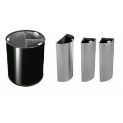 Papelera de reciclaje 40L Acero Inox JVD Papeleras reciclaje JVD JV8991005