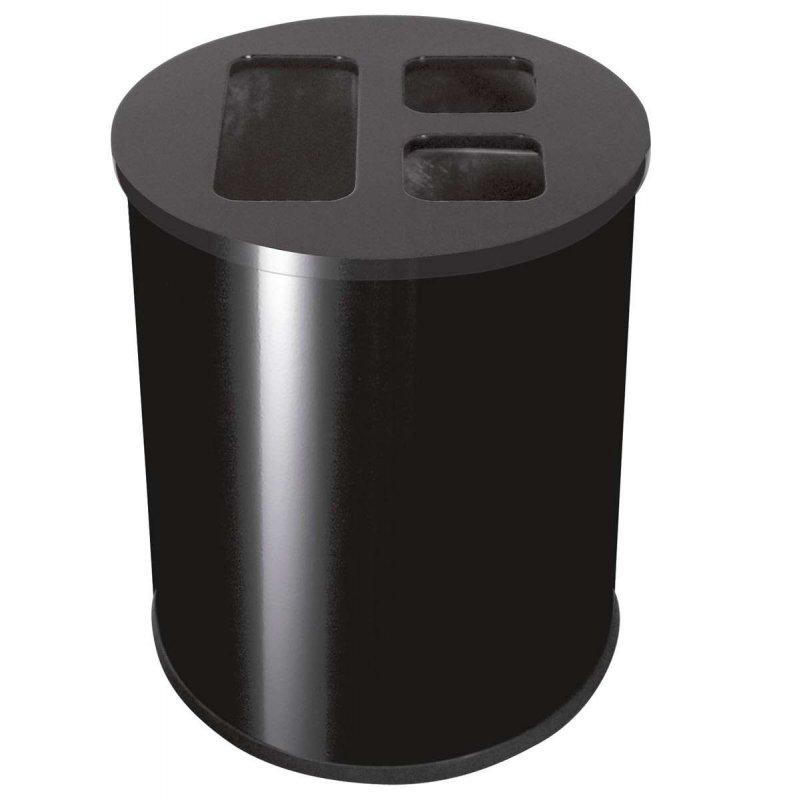 Papelera de reciclaje 40L Negra JVD Papeleras reciclaje JVD JV8991080