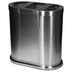 Papelera de reciclaje 150L Acero Inox JVD Papeleras reciclaje JVD JV8991433