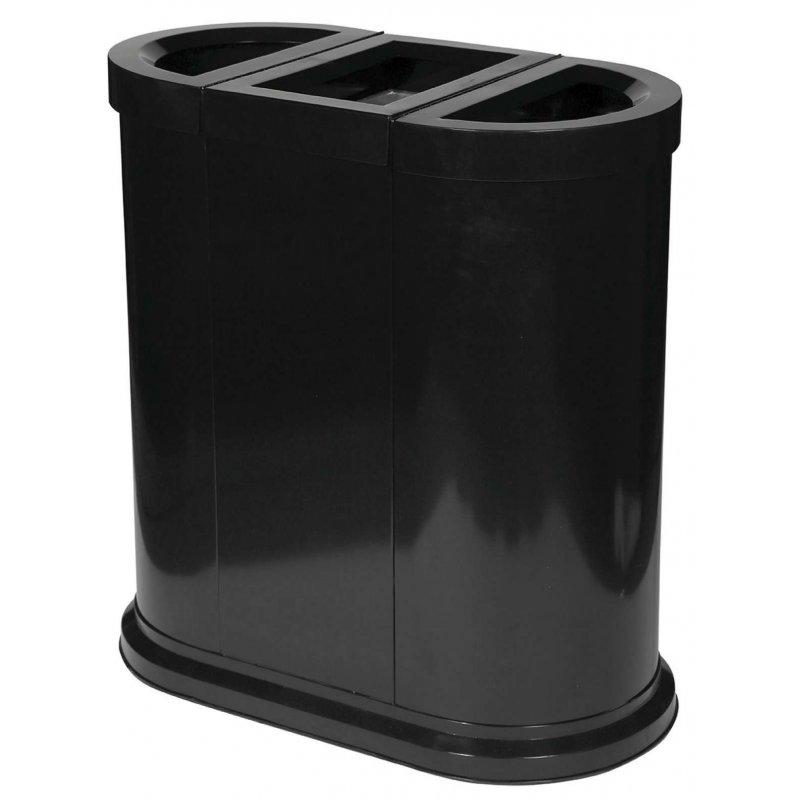 Papelera de reciclaje 150L Negra JVD Papeleras reciclaje JVD JV8991430