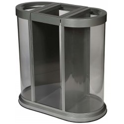 Papelera de reciclaje 150L Transparente JVD Papeleras reciclaje JVD JV8991431