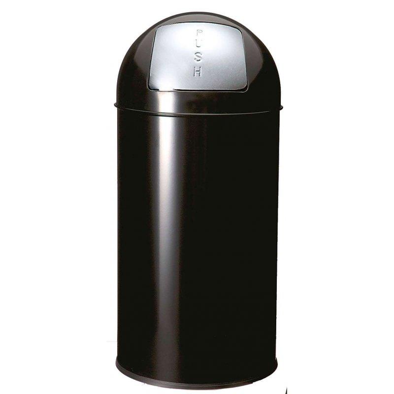 Papelera Push Negra 40L. JVD Papeleras de Interior JVD JV899538