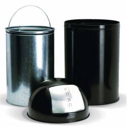 Papelera Push Inox 40L JVD Papeleras de Interior JVD JV899539S