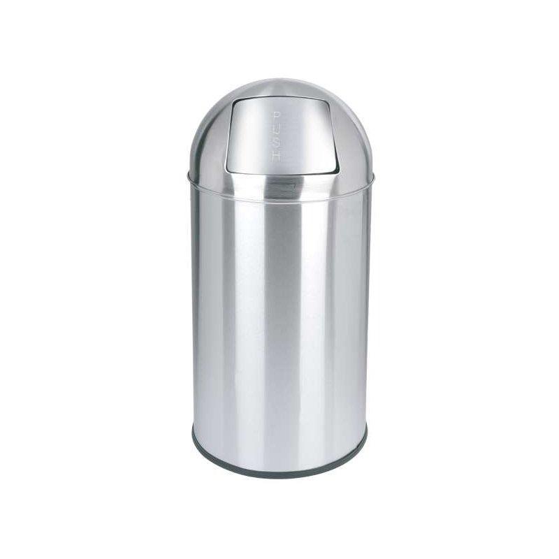 Papelera Push Inox Brillo 40L. JVD Papeleras de Interior JVD JV899539
