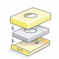 Dispensador Bolsitas higiénicas Cromado Dispensadores bolsas higiénicas JVD JV8991315