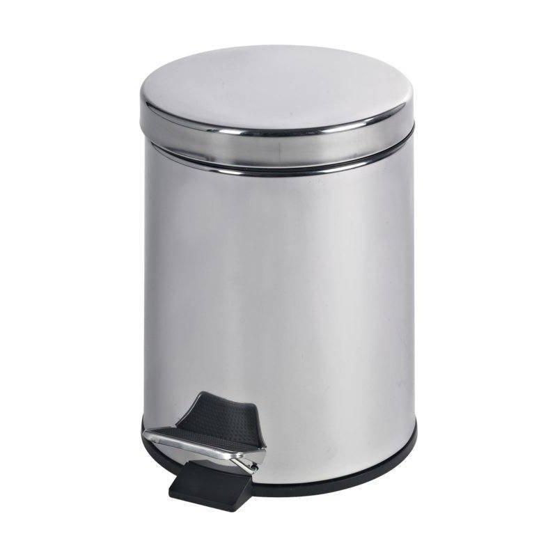 Papelera de baño acero brillo 5 litros Papeleras Baño JAMI JMPP002AIB1