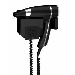 Secador de pelo con toma de afeitar Brittony negro Secadores con soporte pared JVD JV8221189
