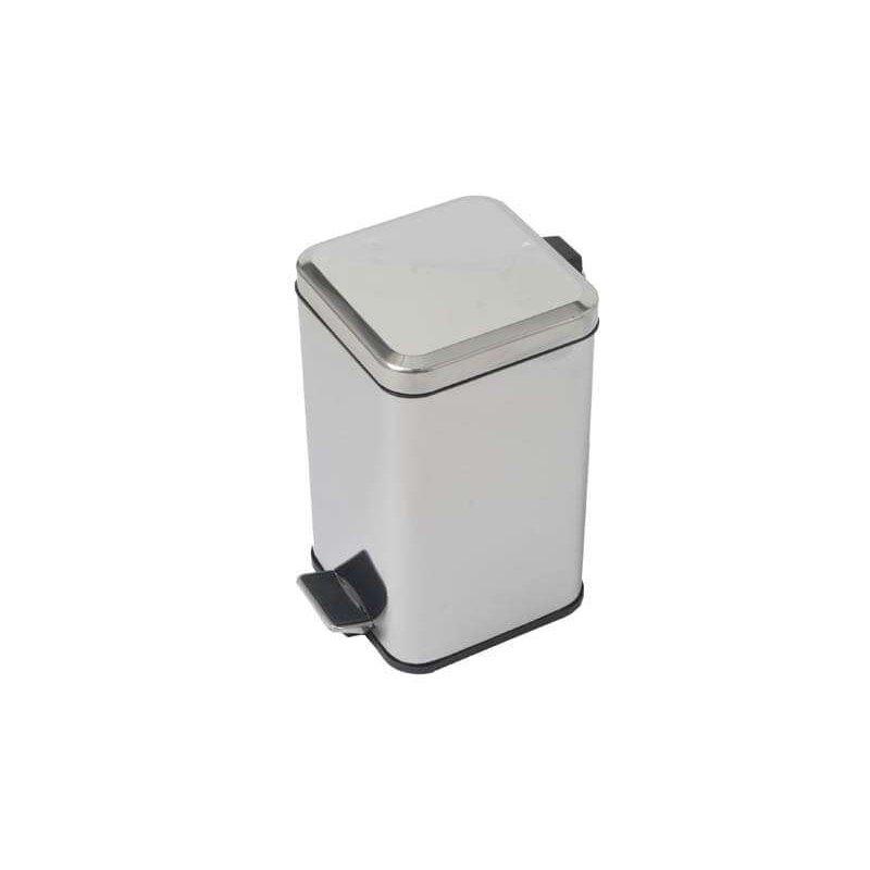 Papelera de baño Cuadrada Brillo 5 litros Papeleras Baño JAMI JMPP003AIB1