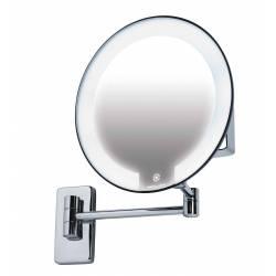 Espejo aumento LED latón...