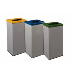 Conjunto de 3 papeleras de reciclaje 3x70L Papeleras reciclaje JAMI JMPI306ACI1